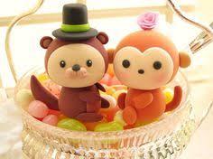 love monkey wedding cake topper lovely animals topper