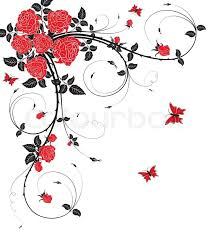 abstract flower background with butterfly element for design
