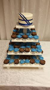 silver and royal blue wedding cupcakes cakes so simple