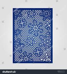 vector filigree pattern wedding invitation card stock vector