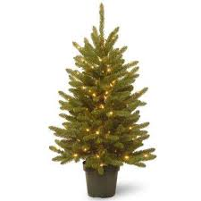 potted artificial christmas trees christmas trees the home depot
