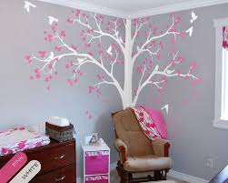 Tree Decal For Nursery Wall Tree Wall Decal Corner Tree Decal Nursery Wall Decoration