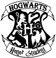 hogwarts alumni decal hogwarts honor student harry potter car or truck window decal