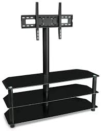 Furniture Tv Stands For Flat Screens Amazon Com Mount It Tv Center Stand With Mount And Glass