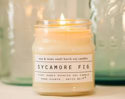 sycamore fig soy candle scented candle custom gift
