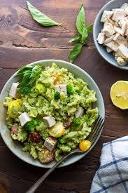 almond broccoli pesto pasta recipe with chicken