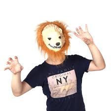 motorized halloween props halloween great lion king mask of terror animal dress up sales