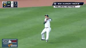 yankees aaron hicks throws ball 105 5 mph mlb com