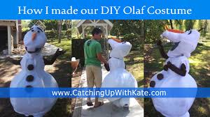 olaf costume for halloween diy olaf costume instructions highlights along the way