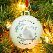 partridge in a pear tree christmas bauble i just love it