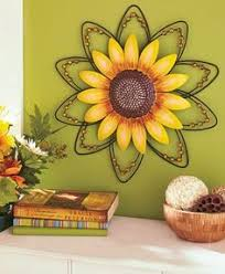 sunflowers decorations home dish rack 2 tier metal sunflower rooster apple country kitchen decor