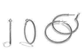 silver hoops sterling silver hoops bloomingdale s