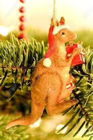 tree decoration australian kangaroo stock photo