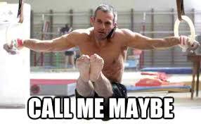 Gymnast Meme - jordan jovtchev call me maybe iron cross gymnastics meme