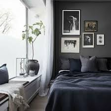 Dark Bedroom Colors My Unfinished Home Dark Blue Walls Linen Bedding And Blue Walls