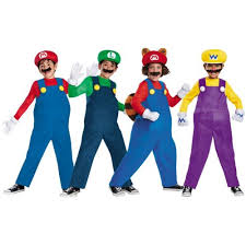 boys 80913 mario luigi costumes kids super mario bros