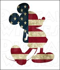 Iron On American Flag Usa Mickey Mouse American Flag 4th Of July Digital Iron On