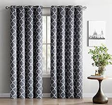 Insulated Curtains Amazon Amazon Com Hlc Me Lattice Print Thermal Insulated Blackout Window