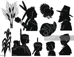 thanksgiving americans and pilgrims vector getty images