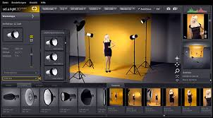 simulate lighting in a photo studio with set a light 3d studio
