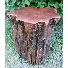 Teak Wood Groovystuff Teak Wood Campfire Stump Seat Tf 509 Ultimate Patio