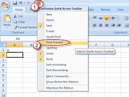 restoring classic print preview in excel 2010 2013 accountingweb