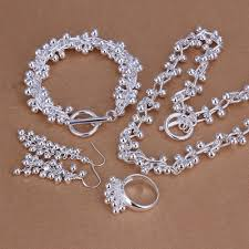 sterling silver necklace sets images Cute grape series four piece jewelry set with 925 sterling silver jpg