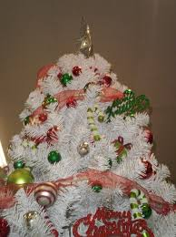 A White Christmas Decorations by White Christmas Trees