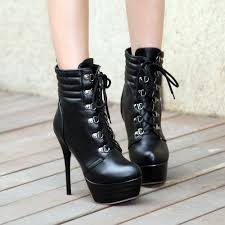 women s lace up biker boots cross strap womens high heels platform motorcycle stilettos
