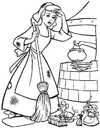 cinderella exhausted coloring page cinderella pinterest