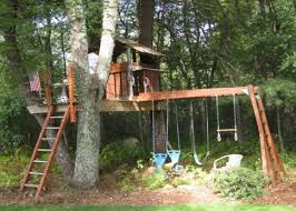 transform your swing set into a tree house for growing