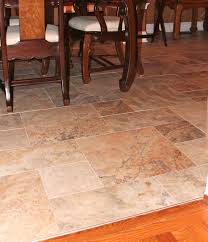 dining room nice tile floor pattern the different shapes take