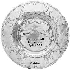 personalized pewter plate personalized mixed metal birds wedding or anniversary plate