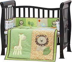 dream on me safari animals portable 3 piece crib bedding set