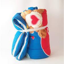 vintage care bears sleeping bag tenderheart love lot heart
