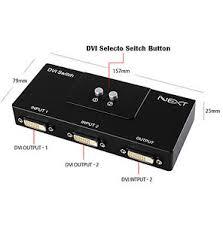 dvi 2 port manual switcher selector switch box monitor single mode