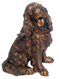 bronze spaniel figurine sculpture