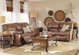 cindy crawford home alpen ridge reclining sofa 1 999 99 alpen ridge tan 7 pc living room with reclining sofa