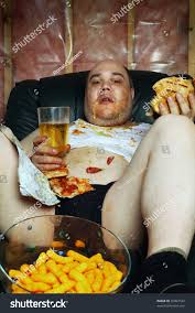 Harsh Lighting Photo Fat Couch Potato Eating Huge Stock Photo 76067524 Shutterstock