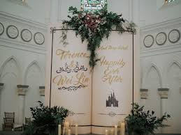 wedding backdrop book fairytale wedding chijmes of roses