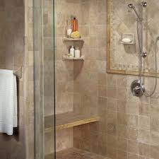 Small Bathroom Showers A Walk In Shower W Multiple Shower Heads And A Seat Might