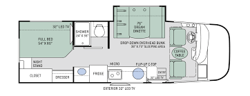 Auto Floor Plan Rates by Vegas Ruv Class A Motorhomes Floor Plans Thor Motor Coach