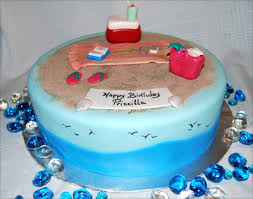 leelees cake abilities beach theme birthday cake