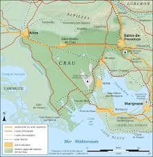 Arles France Map by Crau Biome Area Map Fr U2022 Mapsof Net
