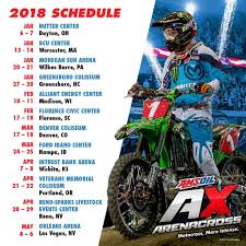 motocross ama schedule 2018 amsoil arenacross schedule announced moto related