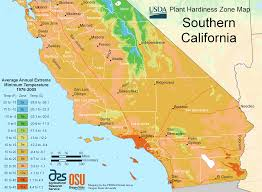 San Diego State University Campus Map by South California Plant Hardiness Zone Map U2022 Mapsof Net
