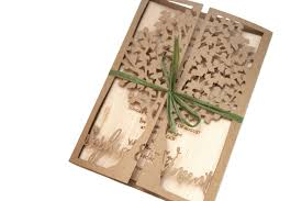 Wedding Invite Card Stock Laser Cut Tree Wedding Invitation With Wood Engraved Invite