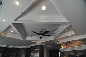 White Shabby Chic Ceiling Fan by Decor U0026 Tips Cool Coffered Ceilings Ideas With Recessed Lighting