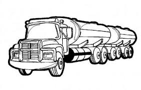oil semi truck coloring netart