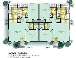 2 Bedroom 2 Bath Duplex Floor Plans by Modular Duplexes Oak Creek Homes